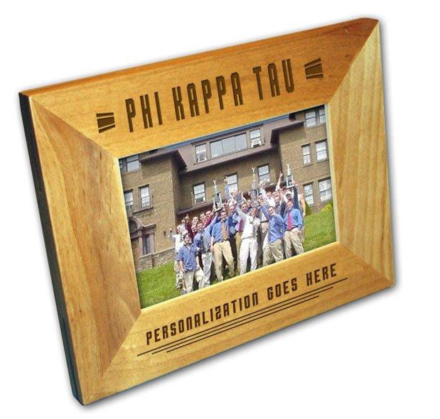 "Phi Kappa Tau 4"" x 6"" Stripes  Custom Picture Frame"