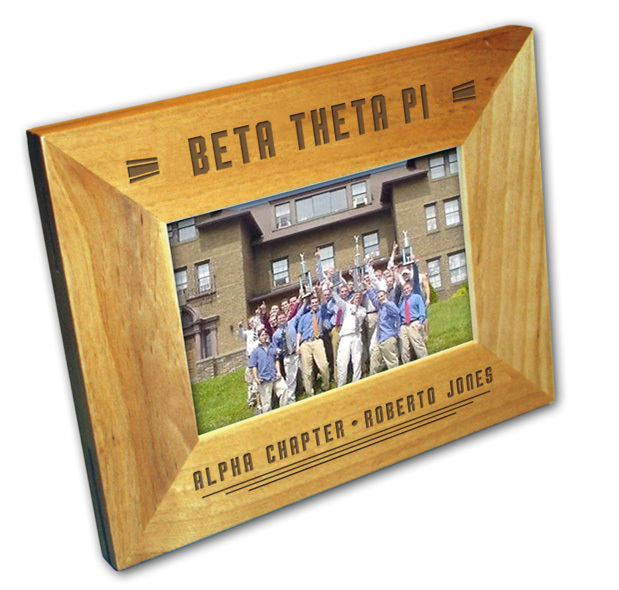 Wooden Stripes Fraternity Picture Frame