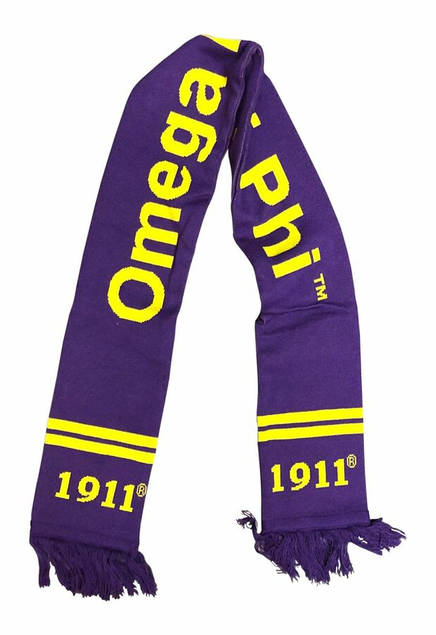 Omega Psi Phi Fraternity Knit Scarf