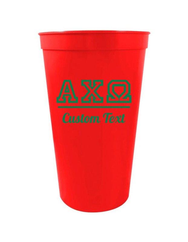 Alpha Chi Omega Custom Greek Collegiate Stadium Cup