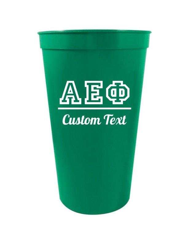 Alpha Epsilon Phi Custom Greek Collegiate Stadium Cup