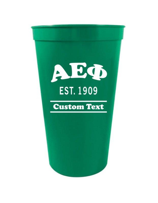 Alpha Epsilon Phi Custom Greek Cooper Stadium Cup