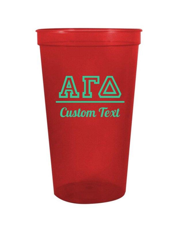 Alpha Gamma Delta Custom Greek Collegiate Stadium Cup