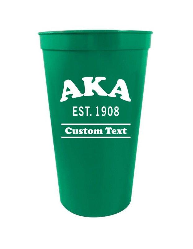Alpha Kappa Alpha Custom Greek Cooper Stadium Cup