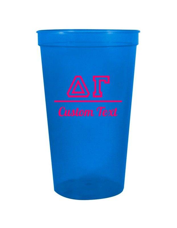 Delta Gamma Custom Greek Collegiate Stadium Cup