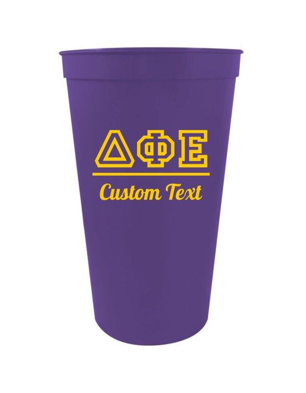 Delta Phi Epsilon Custom Greek Collegiate Stadium Cup SALE