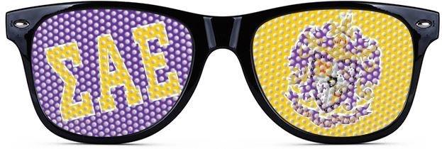 Sigma Alpha Epsilon Wayfarer Style Lens Sunglasses
