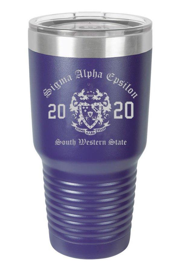 Sigma Alpha Epsilon Insulated Tumbler