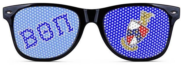 Beta Theta Pi Wayfarer Style Lens Sunglasses