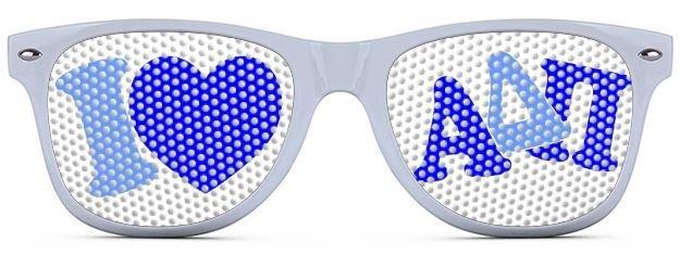 Alpha Delta Pi Wayfarer Style Lens Sunglasses
