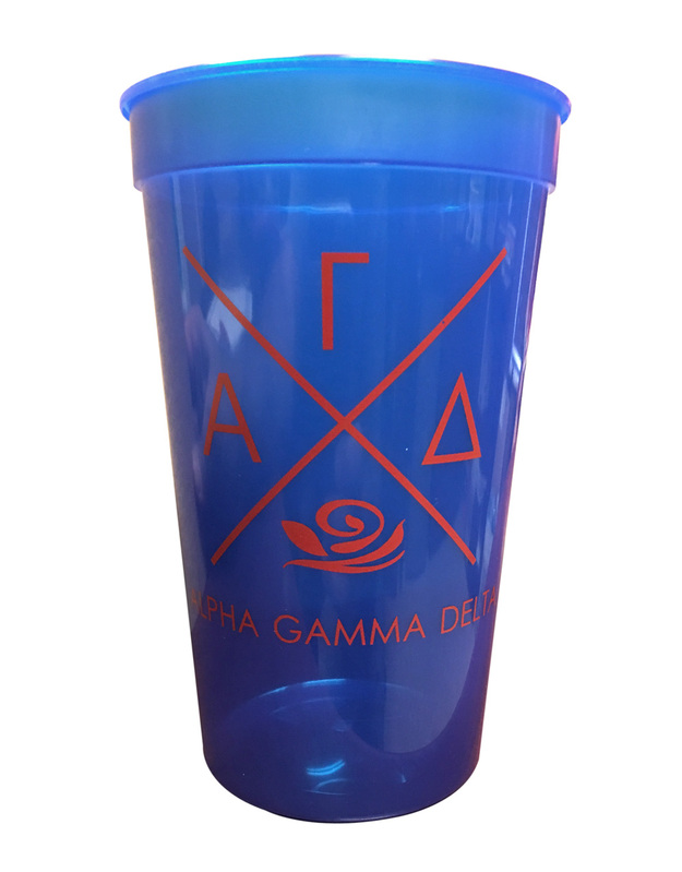 Alpha Gamma Delta Infinity Giant Plastic Cup - CLOSEOUT