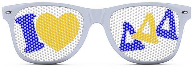Delta Delta Delta Wayfarer Style Lens Sunglasses