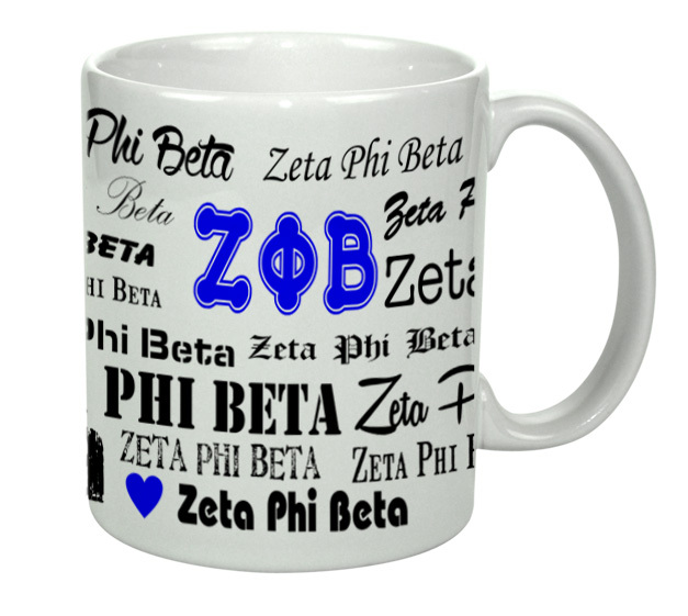 Zeta Phi Beta Collage Coffee Mug