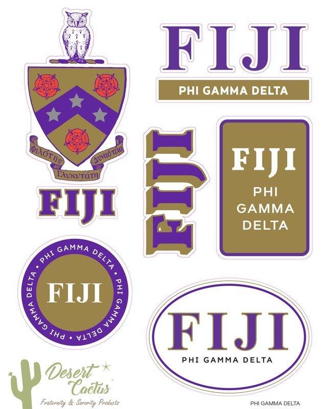 FIJI Traditional Sticker Sheet