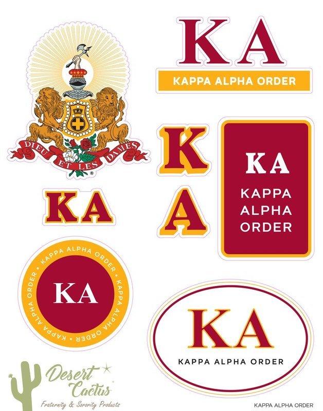 Kappa Alpha Traditional Sticker Sheet