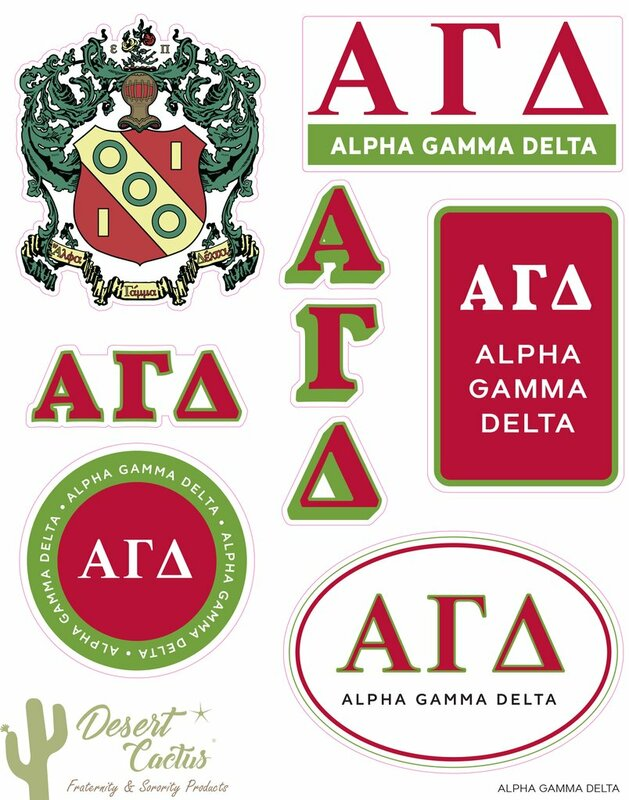 Alpha Gamma Delta Traditional Sticker Sheet