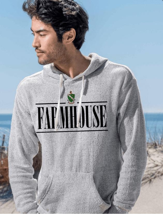 FARMHOUSE Line Crest Lucas Loop Fleece Hood