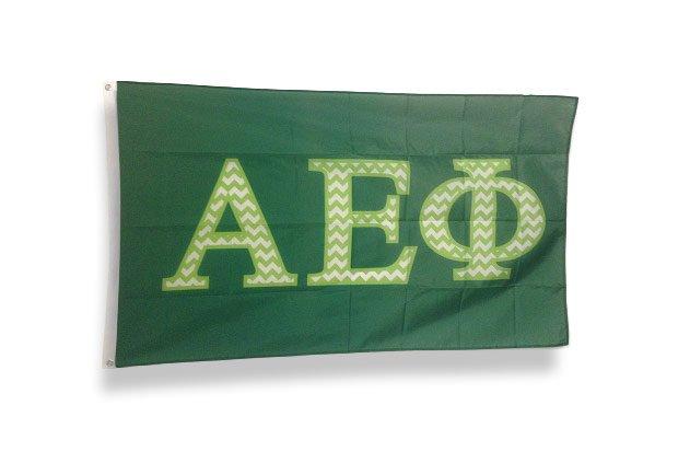 Alpha Epsilon Phi Chevron Flag