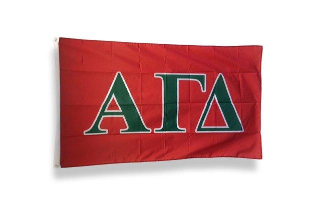 Alpha Gamma Delta Big Greek Letter Flag