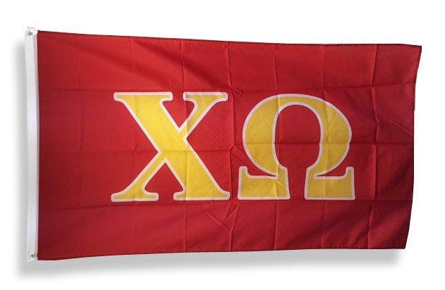 Chi Omega Big Greek Letter Flag