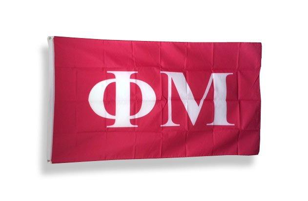 Phi Mu Big Greek Letter Flag
