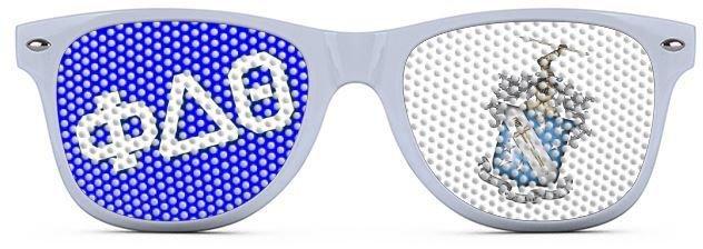 Fraternity Wayfarer Style Lens Sunglasses