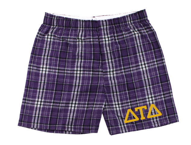 Delta Tau Delta Flannel Boxer Shorts