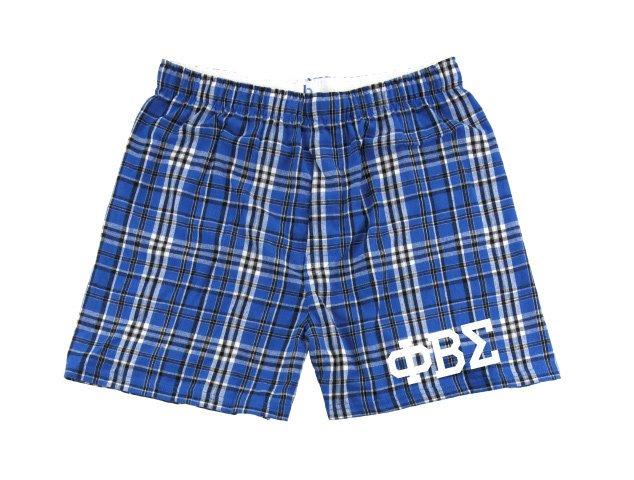 Phi Beta Sigma Flannel Boxer Shorts