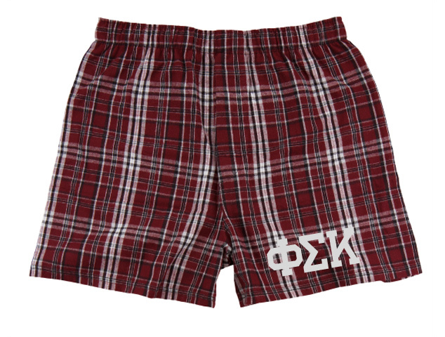 Phi Sigma Kappa Flannel Boxer Shorts