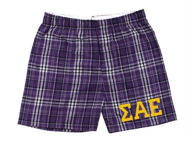 Sigma Alpha Epsilon Flannel Boxer Shorts