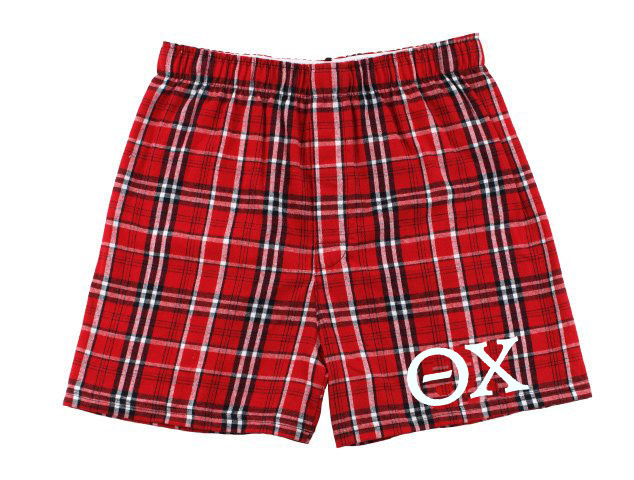 Theta Chi Flannel Boxer Shorts