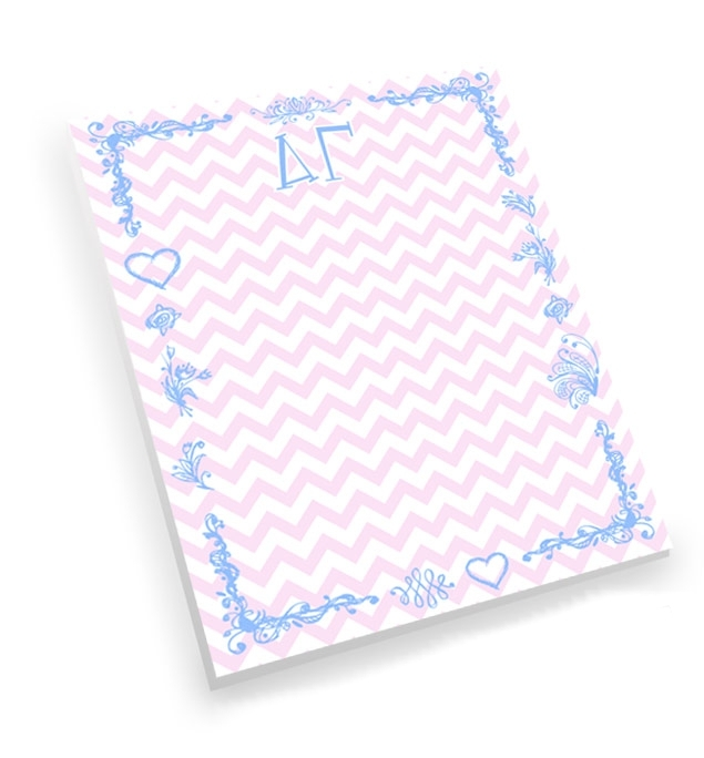 Sorority Chevron Notepad
