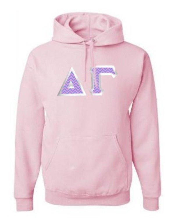 Delta Gamma Custom Twill Hooded Sweatshirt