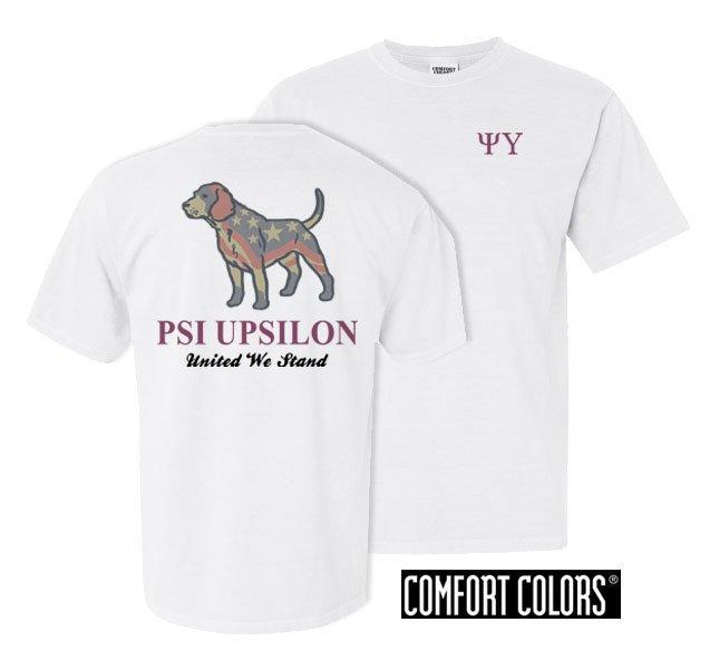 Psi Upsilon United We Stand Comfort Colors T-Shirt