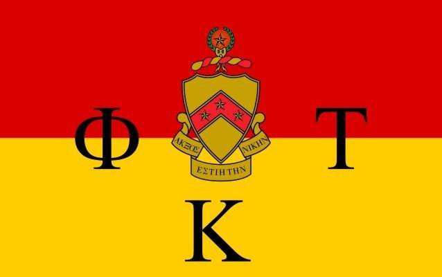 Phi Kappa Tau Flag Decal Sticker