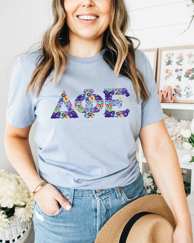 Delta Phi Epsilon Comfort Colors Lettered Greek Short Sleeve T-Shirt