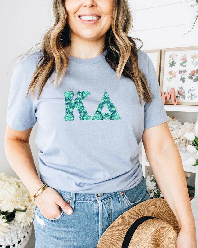 Kappa Delta Comfort Colors Lettered Greek Short Sleeve T-Shirt