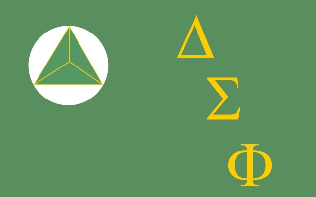 Delta Sigma Phi Flag Decal Sticker