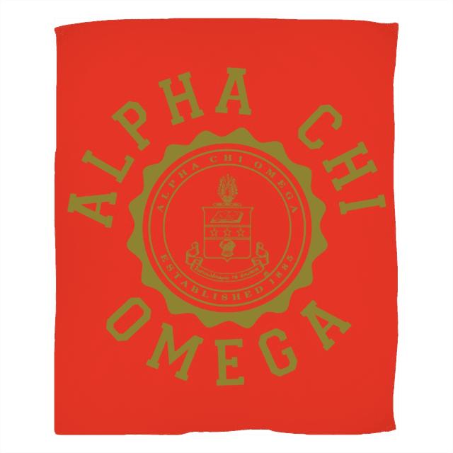 Alpha Chi Omega Seal Fleece Blanket