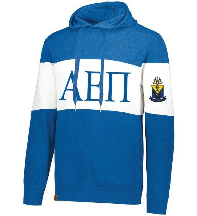 Alpha Epsilon Pi Ivy League Hoodie W Crest On Left Sleeve