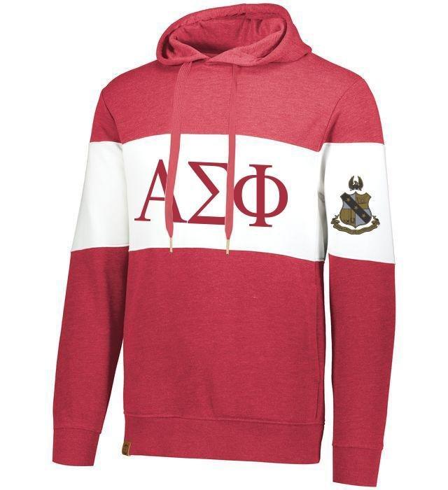 Alpha Sigma Phi Ivy League Hoodie W Crest On Left Sleeve