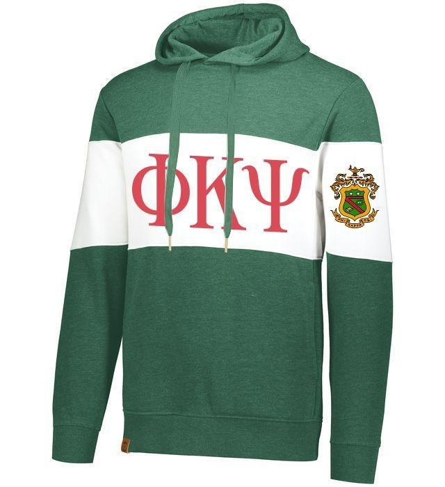 Phi Kappa Psi Ivy League Hoodie W Crest On Left Sleeve