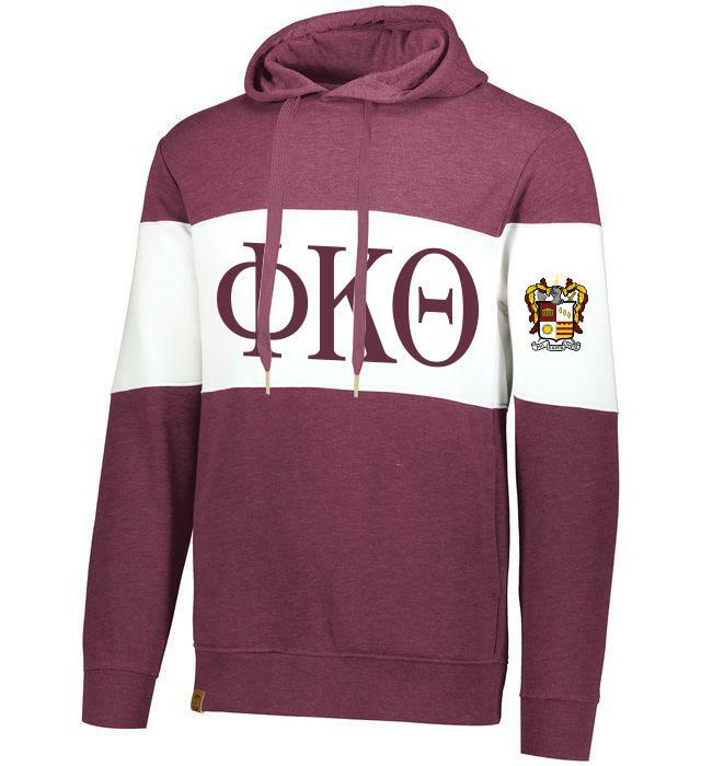 Phi Kappa Theta Ivy League Hoodie W Crest On Left Sleeve