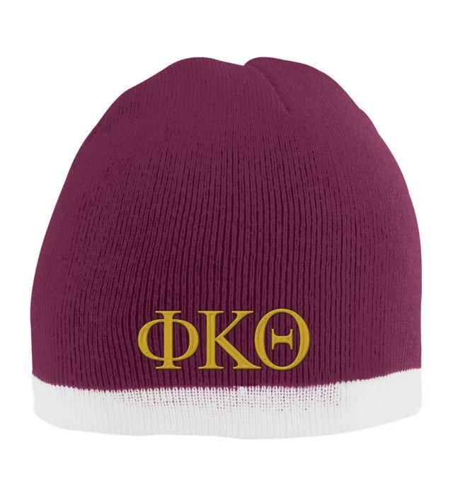Phi Kappa Theta Two Tone Knit Beanie