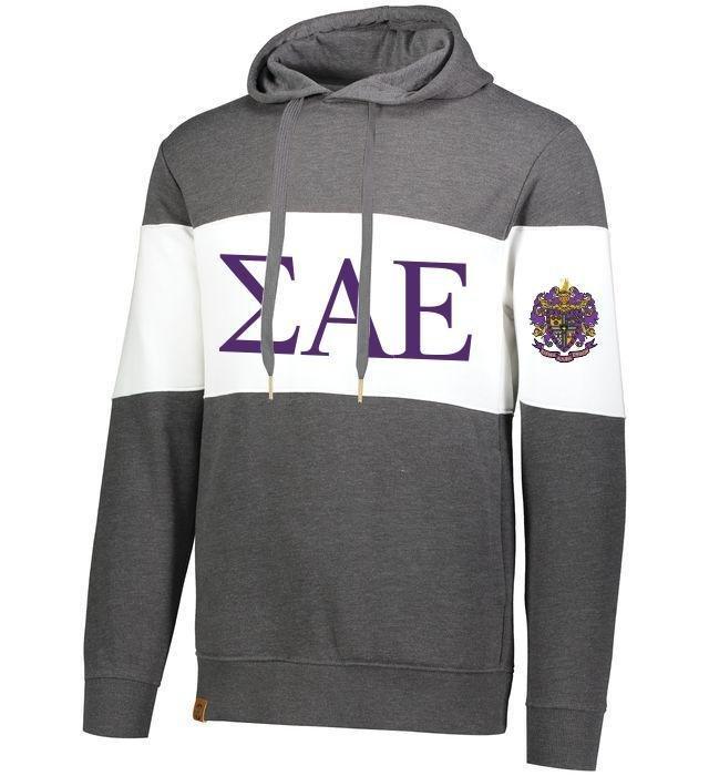 Sigma Alpha Epsilon Ivy League Hoodie W Crest On Left Sleeve