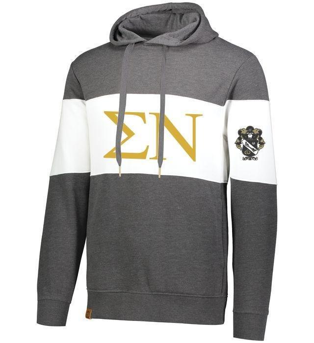 Sigma Nu Ivy League Hoodie W Crest On Left Sleeve
