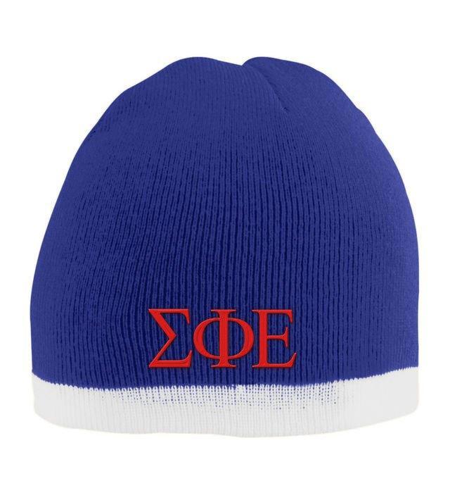 Sigma Phi Epsilon Two Tone Knit Beanie