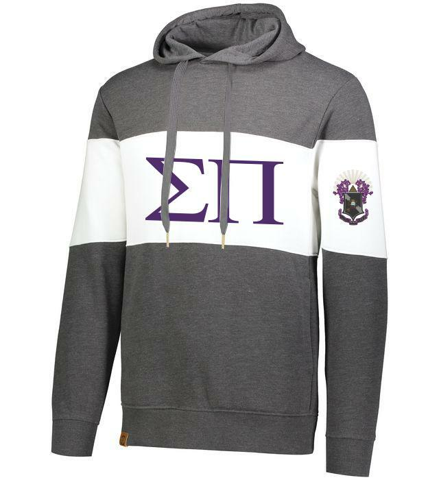 Sigma Pi Ivy League Hoodie W Crest On Left Sleeve