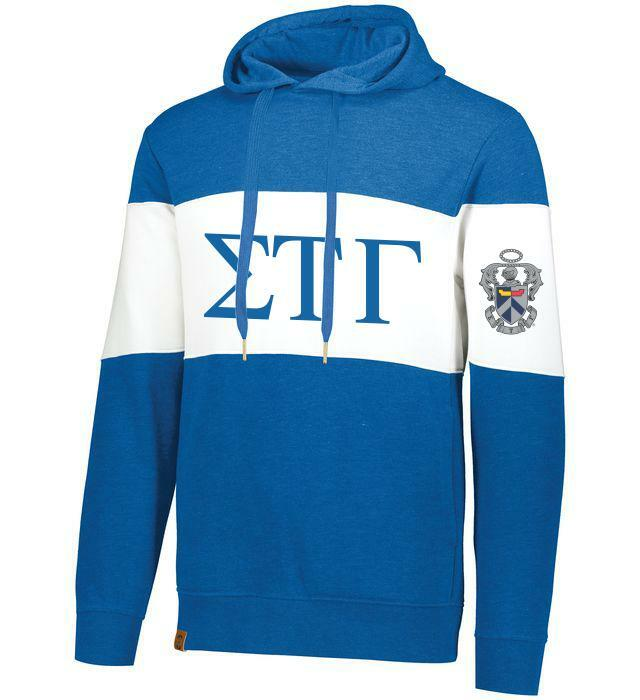 Sigma Tau Gamma Ivy League Hoodie W Crest On Left Sleeve