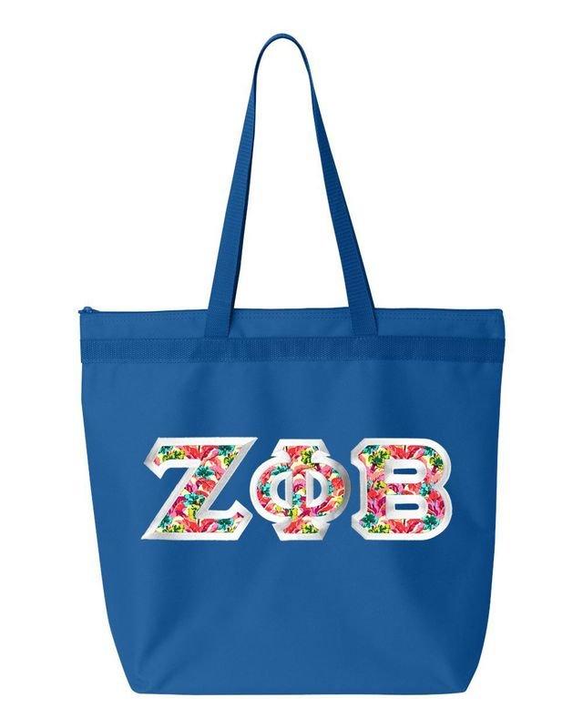 $19.99 Zeta Phi Beta Custom Satin Stitch Tote Bag